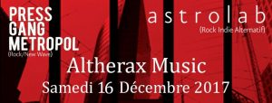 Affiche concert Altherax 2017